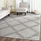 Cheap Safavieh Adirondack Collection ADR122B Ivory and Silver Modern Trellis Area Rug (9′ x 12′)
