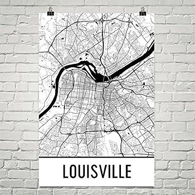 Louisville Poster, Louisville Art Print, Louisville Wall Art, Louisville Map, Louisville City Map, Louisville Kentucky City Map Art,Louisville Gift,Louisville Decor