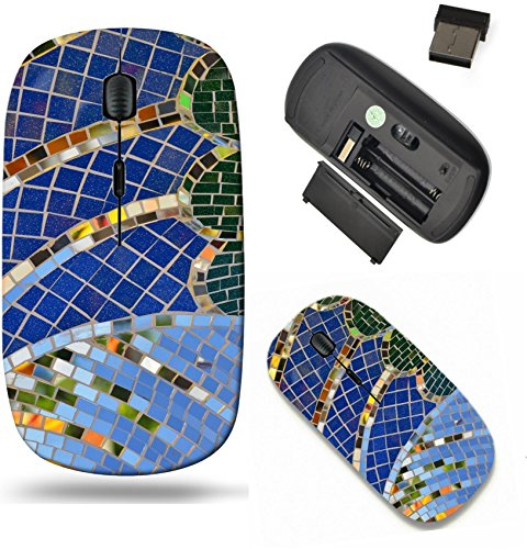 Liili Wireless Mouse Travel 2.4G Wireless Mice with USB Receiver, Click with 1000 DPI for notebook, pc, laptop, computer, mac book IMAGE ID 32884025 Tile and mirror mosaic texture background