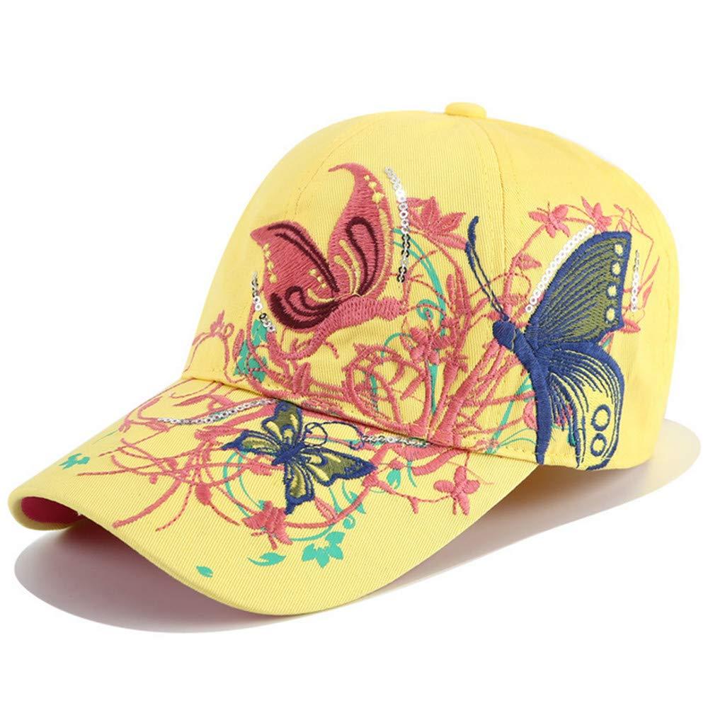 Mzdpp Gorra De Béisbol Anti-Ultravioleta Cómoda Al Aire Libre Sombrero Hermosa del Sombrero Libre del Sol De La Mariposa del Bordado Magnífico Unisex bad853