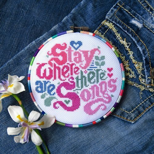 (Gypsy Songs Cross Stitch Pattern Sampler - Chart Only)
