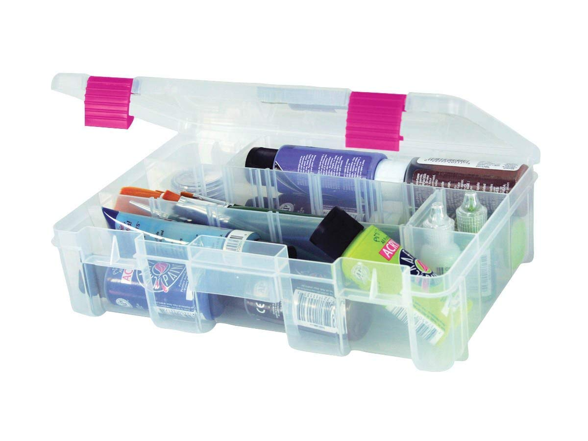 Medium Creative Options 2-3630-82 Pro-Latch Deep Utility Organizer with 4 to 9 Adjustable Compartments