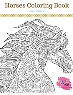 Horse Coloring Book For Adults: An Adult Coloring Book of 40 ...