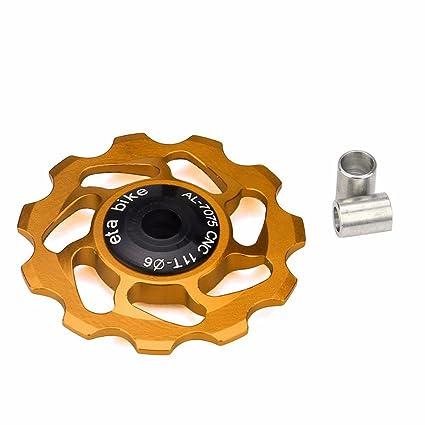 Fibveschoice 11T - Rueda de Aluminio para Bicicleta (Incluye Rueda de Guía, Material Cerámico