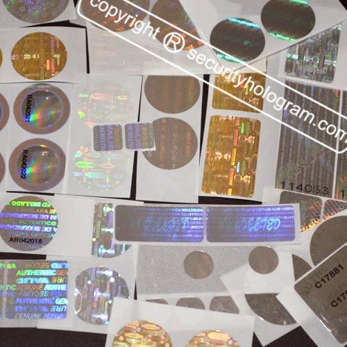 "500 Square AUTHENTIC Hologram Tamper Evident Security Labels .75/"" Seals"
