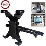 """JCLIVETEK® Supporto universale da poggiatesta in auto per iPad 2/3/4/mini/Galaxy Nota/Motorola XOOM/Tablet 7"""" - 11"""", Braccio Estensibile 12cm-20cm, 360 Gradi di Rotazione"""
