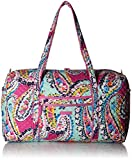 Vera Bradley Iconic Large Travel Duffel, Signature Cotton,Wildflower Paisley