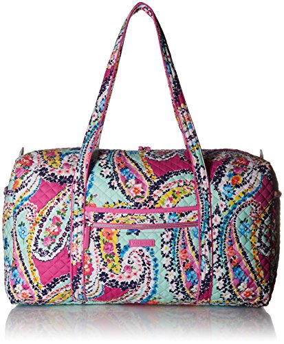 (Vera Bradley Iconic Large Travel Duffel, Signature Cotton,Wildflower Paisley, Wildflower Paisley, One Size)