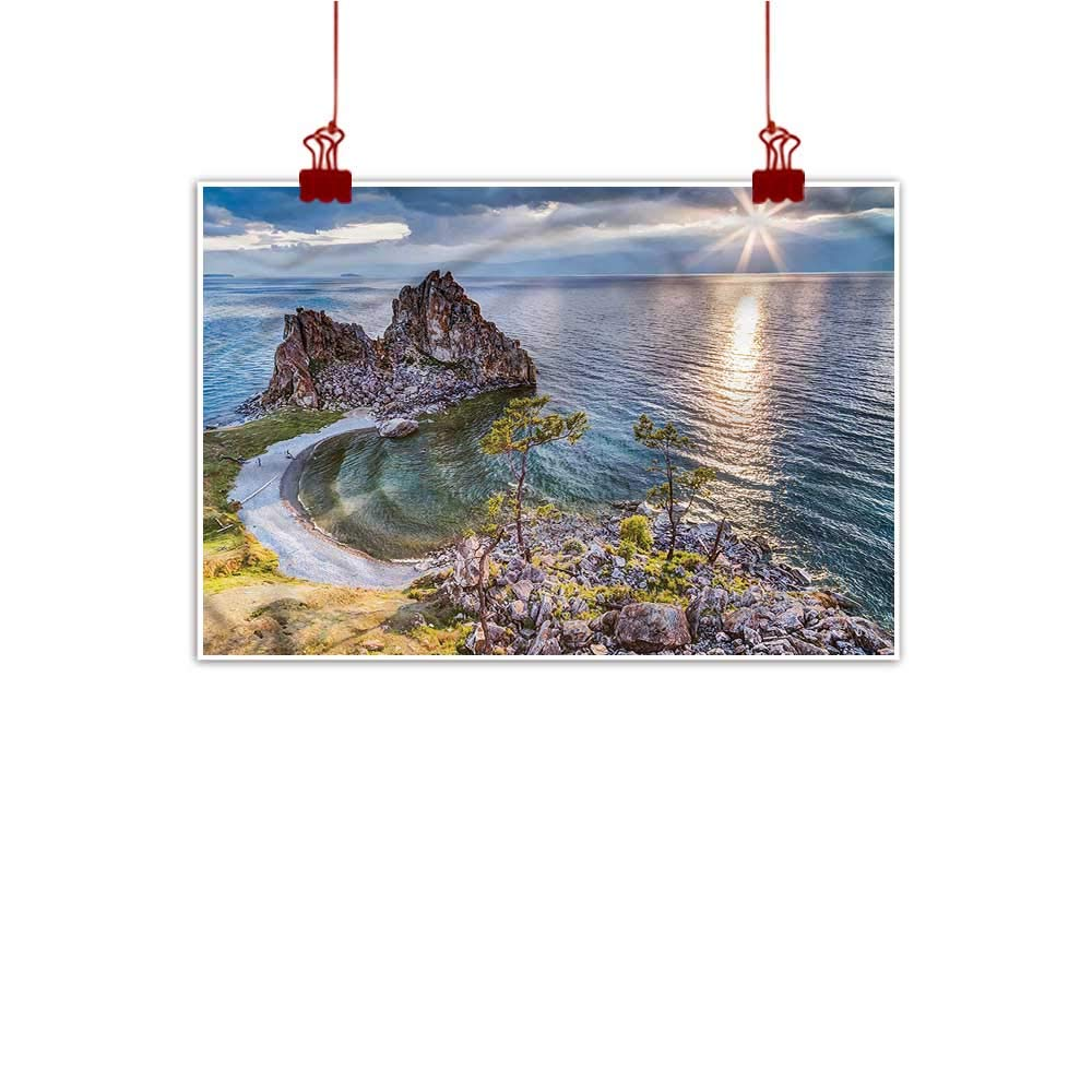 color04 28 x20  (70cm x 50cm) Mangooly Outdoor Nature Inspiration Poster Wilderness Travel,Santorini Touristic Place for Bathroom Bedroom Pictures