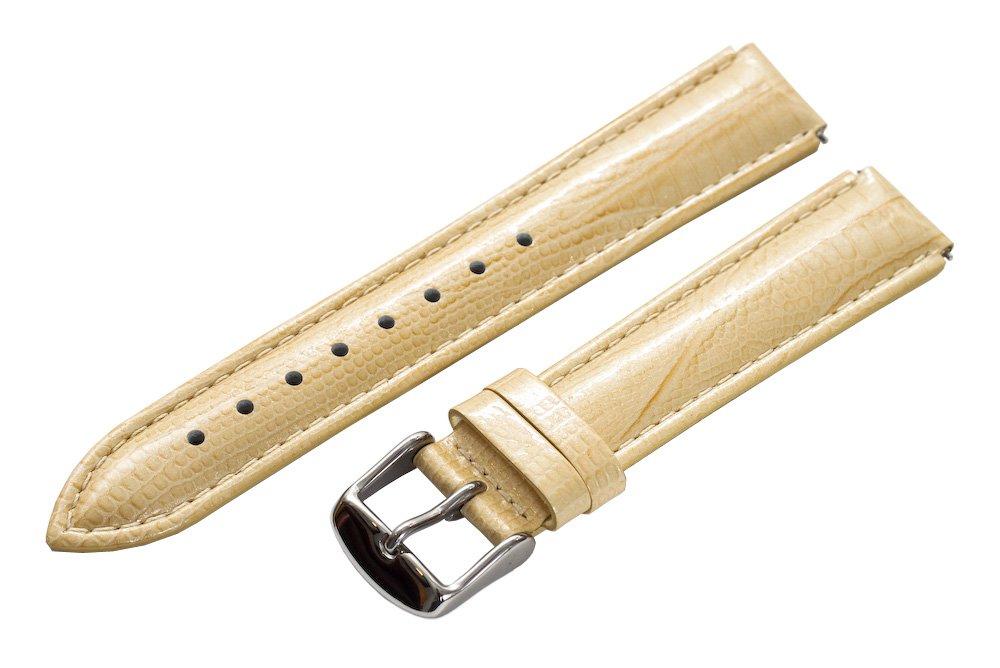 Clockwork Synergy - 18mm x 15mm - Khaki Lizard Grain Leather Watch Band fits Philip stein Small