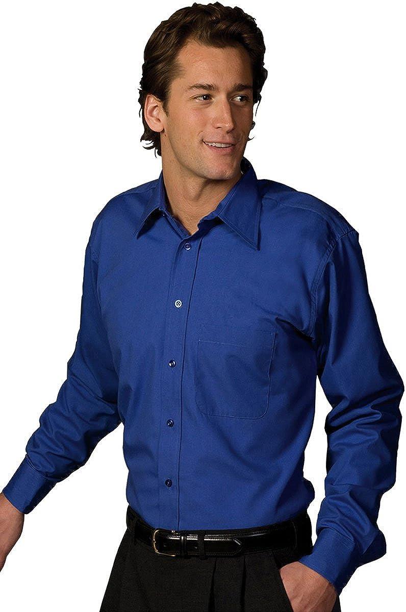 Edwards Garment Mens Long Sleeve Pocket Wicks Moisture Poplin Shirt