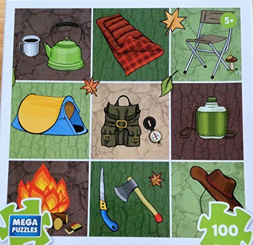 Mega Puzzles Camping 100 Piece Puzzle, Kids Camp Puzzles, Camp Games Kids And Adults Love
