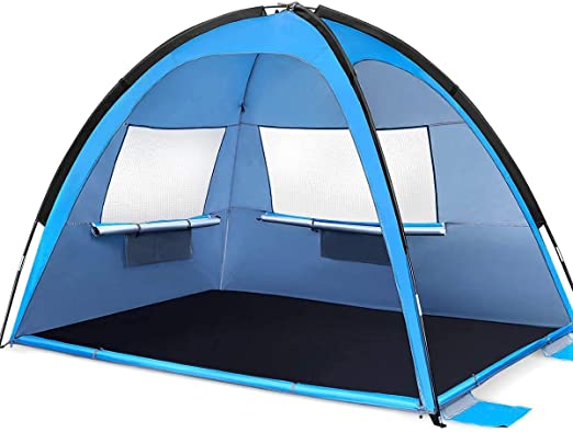 TreeLeaff Pop Up Tent Beach 2 Person Beach Camping Tent Foldable Outdoor UV Lightweight Waterproof tent as Sun Shelter Children Family Garden