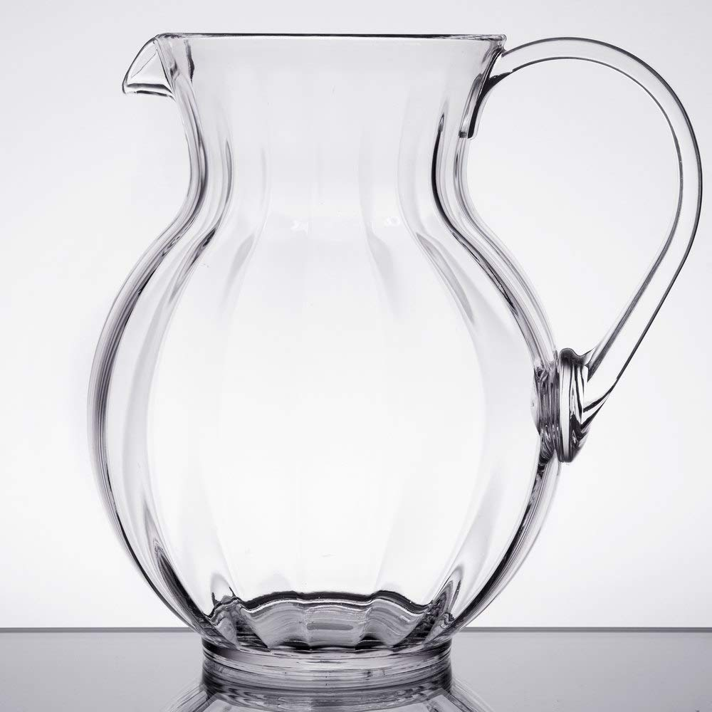 90 oz  Clear Plastic Pitcher, Dishwasher Safe, Break Resistant, for Indoor  and Outdoor Entertaining, by GET P-4090-PC-CL-EC