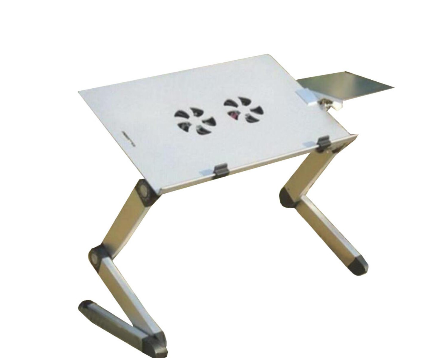 Laptop Table Aluminum Bed Computer Table Outdoor Barbecue Picnic Folding Table Outdoor Barbecue Picnic Gift,Black-OneSize by GHGJU (Image #2)
