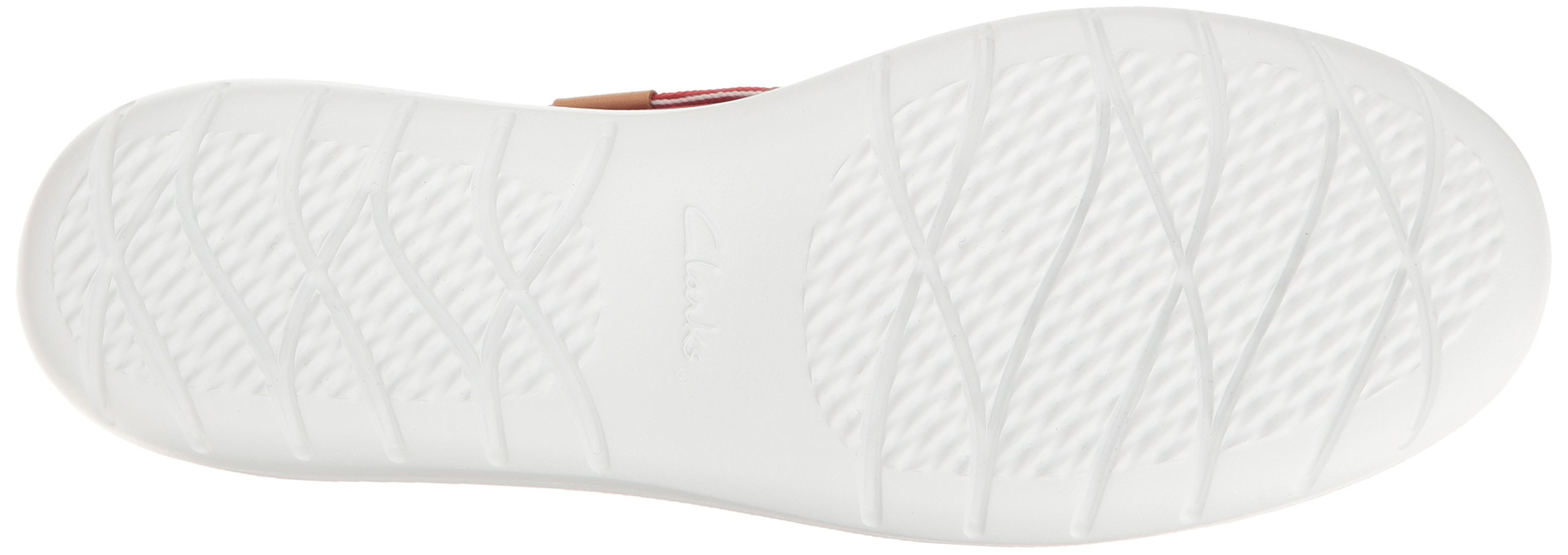 CLARKS Women's Jocolin Vista Boat Shoe, Red Perforated Microfiber, 12 B(M) US by CLARKS (Image #3)
