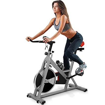 0f766559d Amazon.com   Goplus Indoor Cycling Bike Stationary Bicycle with ...