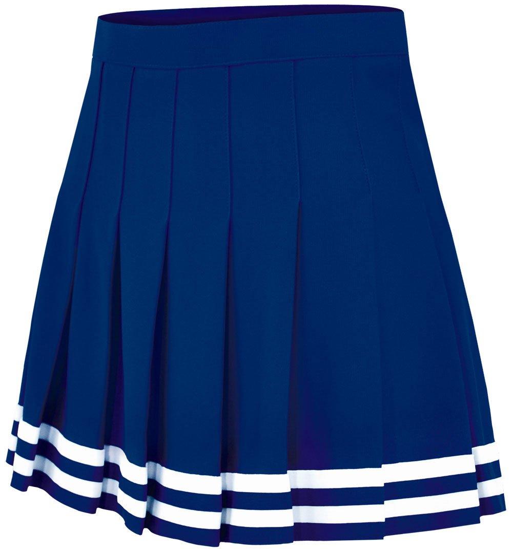 Double Knit Knife Pleat Skirt Navy Medium