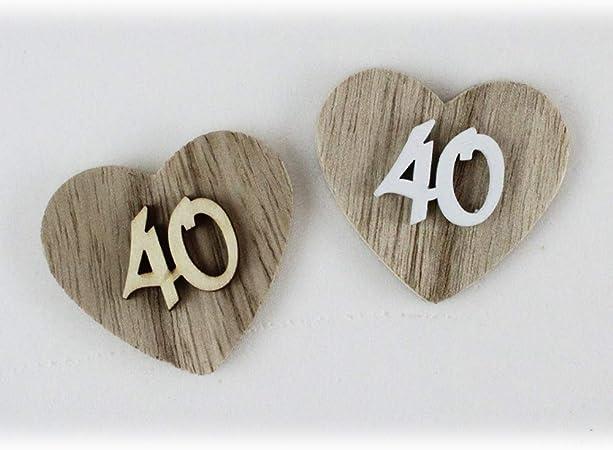 Popolare DLM-29174-legnonaturale (Kit 12 Pezzi) Magnete Calamita Cuore 40 EK59