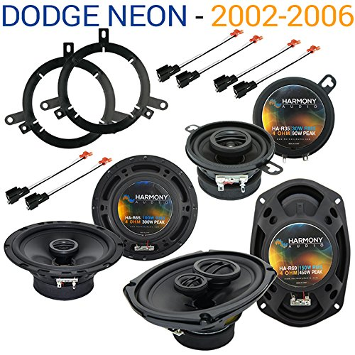 Fits Dodge Neon 2002-2006 Factory Speaker Replacement Harmony Upgrade Package (Dodge Neon Upgrade)