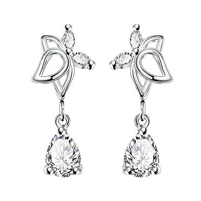 amazon women s new exquisite fashion jewelry hot sale silver JCPenney Diamond Earrings women s new exquisite fashion jewelry hot sale silver butterfly white diamond earring