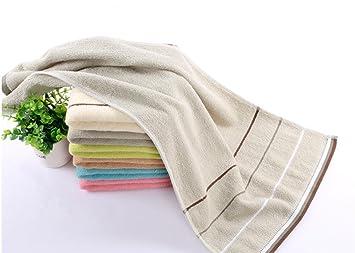 Algodón suave hipoalergénico Seguridad y Protección del medio ambiente teñido toalla de bordado (35 * 75 cm), gris, 35*75: Amazon.es: Hogar