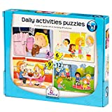 Puzzle Games For Toddlers Set Of 4 Puzzles For Ages 3 + Years Old an Increasing Difficulty Level - Daily Activities - Kids Activity Books