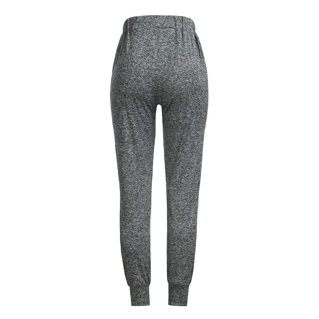 3f99cd8bf13 Amazon.com  CieKen Women s High Waist Yoga Pants Tummy Control Workout  Running Stretch Yoga Leggings  Clothing