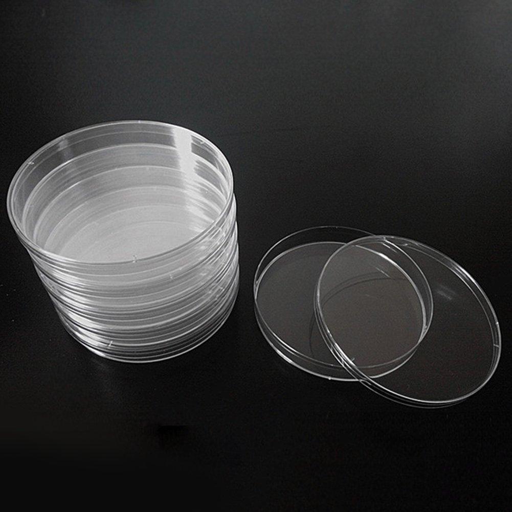 Kit de bo/îtes de P/étri st/érile pour le projet et la f/ête de la science /à l/école Jeu de bo/îtes de P/étri avec couvercles ventil/és paquet de 10 Taille multiple - Plastique