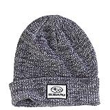 SUBARU Genuine Heather Black Cuffed Knit Hat Impreza STI WRX Racing Ski Snow New