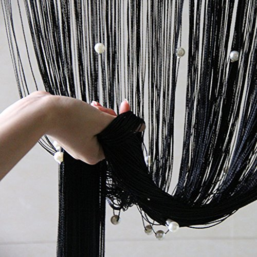DaJun Multi Color Fringe Crystal Beads String Curtain Tassel Door Window Room Divider