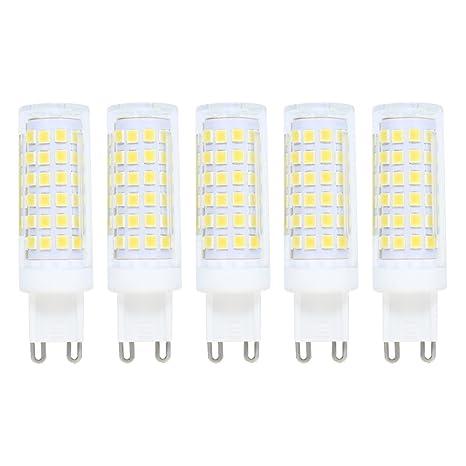 Regulable Bombilla LED G9,9W Equivalente a Bombilla Halógena de 70W,Luz Blanco Frío