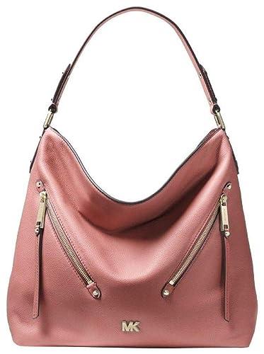 d92540b32e7f Image Unavailable. Image not available for. Color  Michael Kors Women s  Large Evie Hobo Shoulder Bag Pink