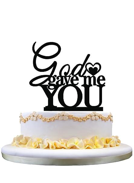 Amazon Wedding Cake Topper Monogram God Gave Me You Wedding