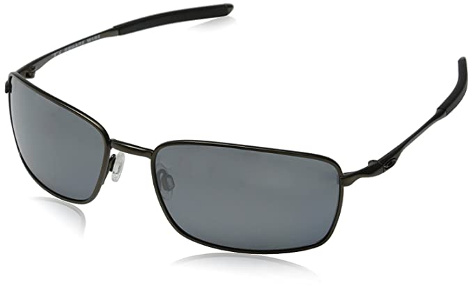 7599a53f67 Oakley Men s Ti Square Wire Polarized Iridium Sunglasses (Pewter ...