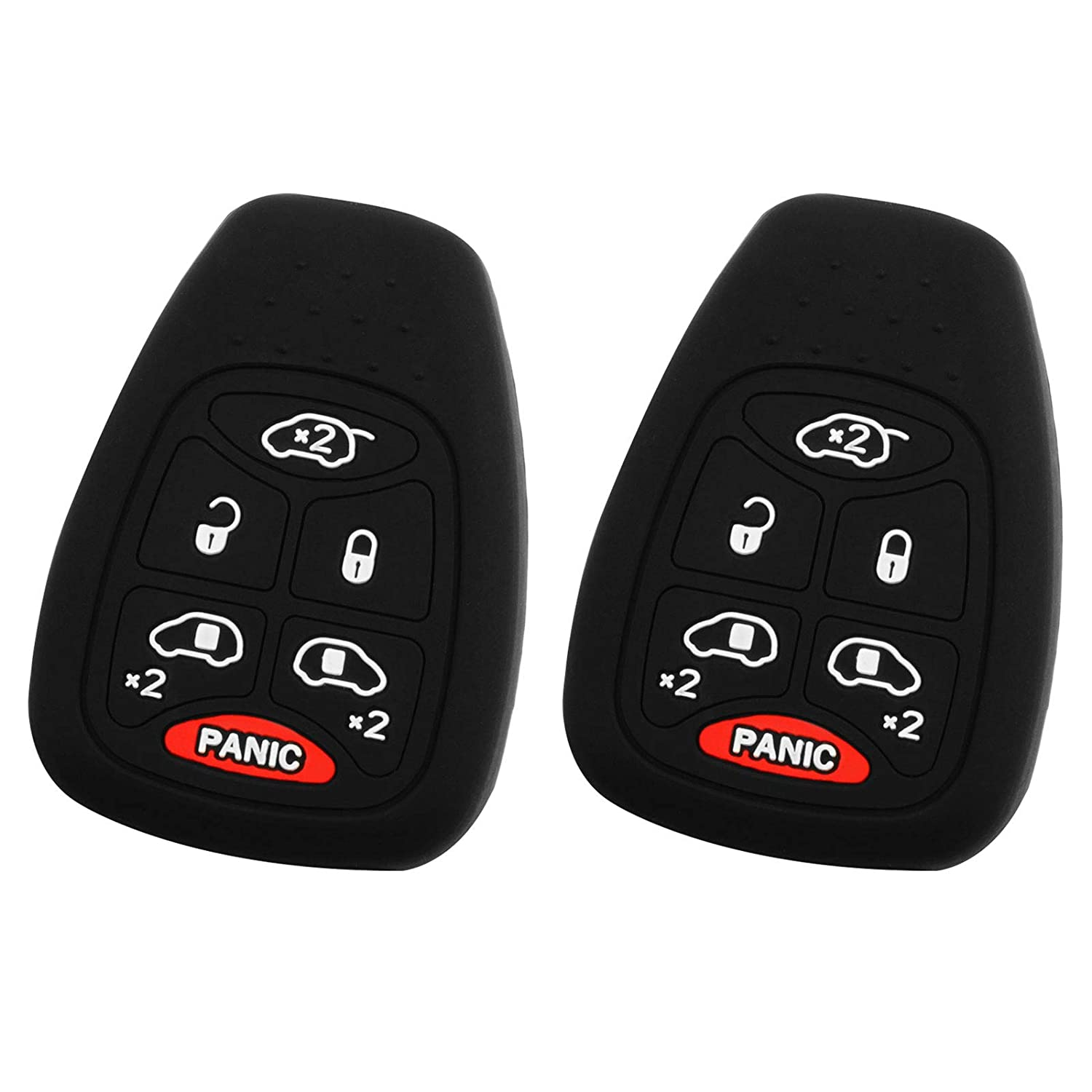 Pack of 2 KeyGuardz Keyless Remote Car Key Fob Outer Shell Cover Soft Rubber Case for Grand Caravan Town Country M3N5WY72XX