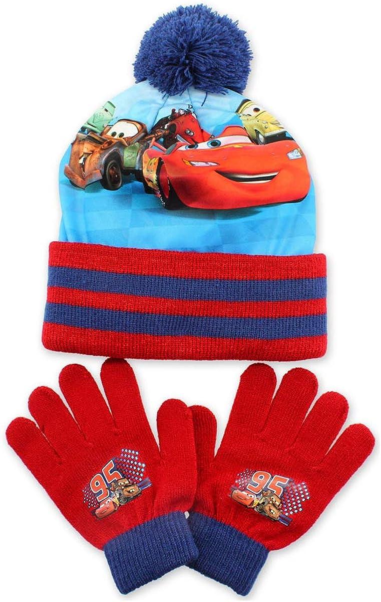 Set cappello con pompon e guanti da ragazzo Cars Flash Mc Queen