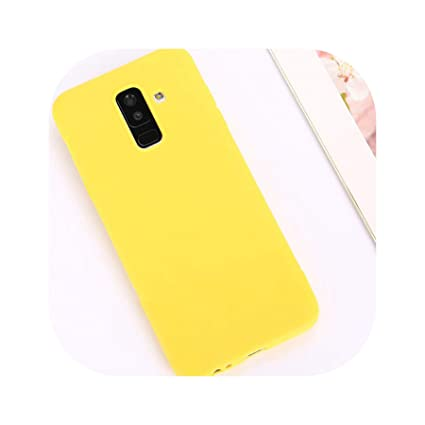 Candy Color Case for Samsung Galaxy A50 A70 A5 2017 J4 J6 Plus J8 A8 A6 A7 2018 S8 S9 S10 Plus S10E Note9 M20 Soft Cover,Yellow,Hey