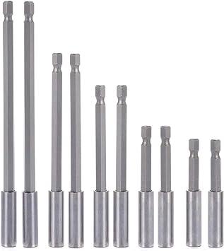 "1-5x 60//75//100//150mm Magnetic Extension Bar Bit Holder 1//4/"" Hex Screwdriver Dril"