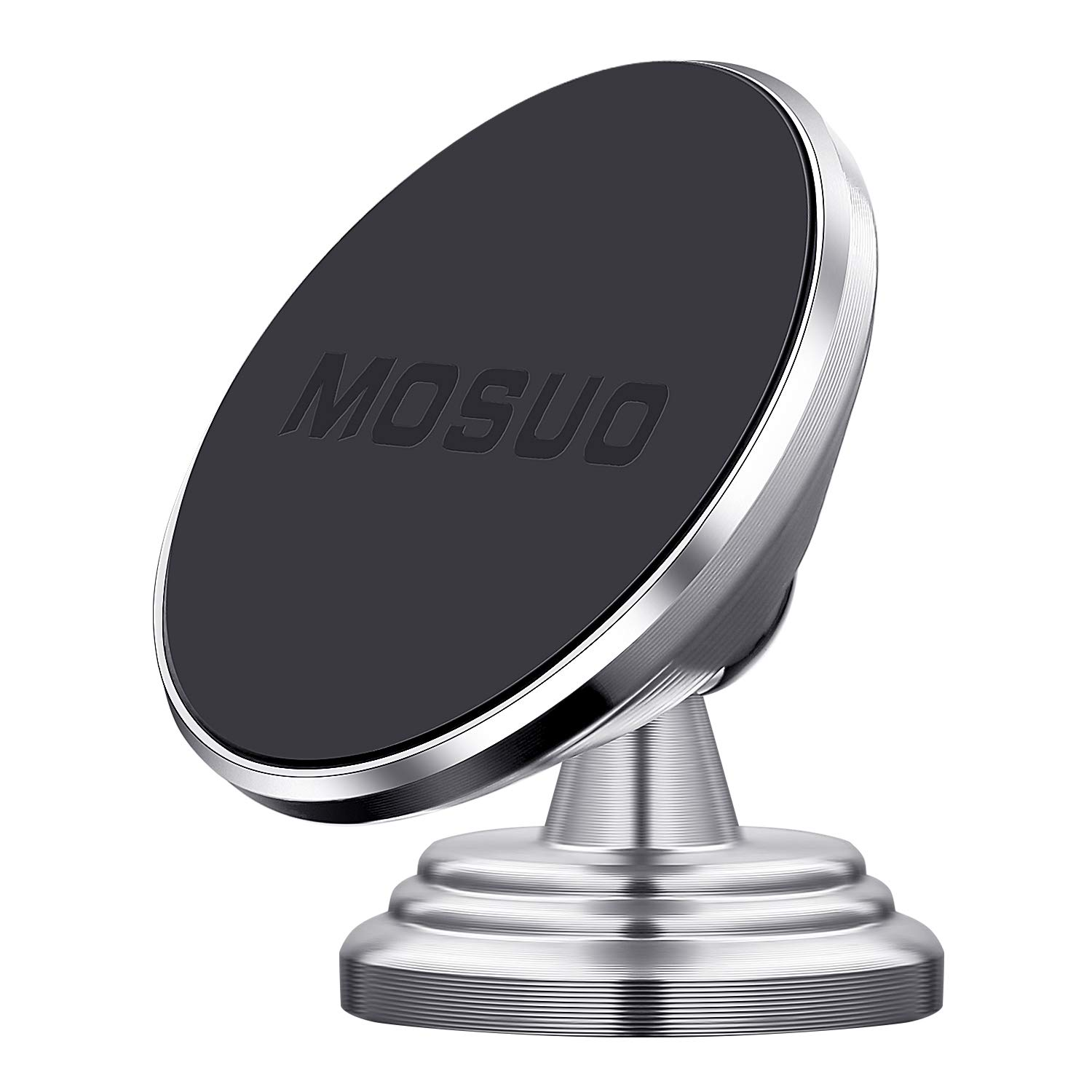MOSUO Magnetic Car Phone Holder Dashboard Car Phone Mount 360° Rotation,  Universal Car Cradle with Metal Plates Sticky for iPhone Xs  Max/Xs/XR/X/8/7/6