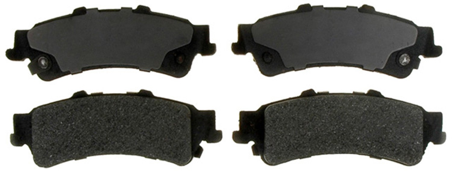 ACDelco 14D792M Advantage Semi-Metallic Rear Disc Brake Pad Set with Wear Sensor