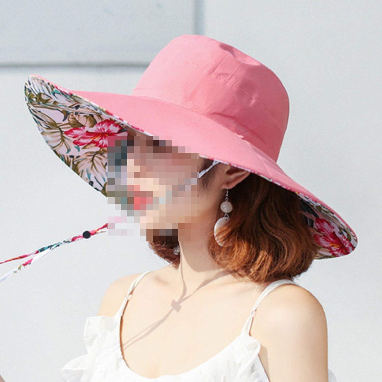 Adult Womens Summer Brim Sun Hat Foldable UV Resistant Beach Hats for Women