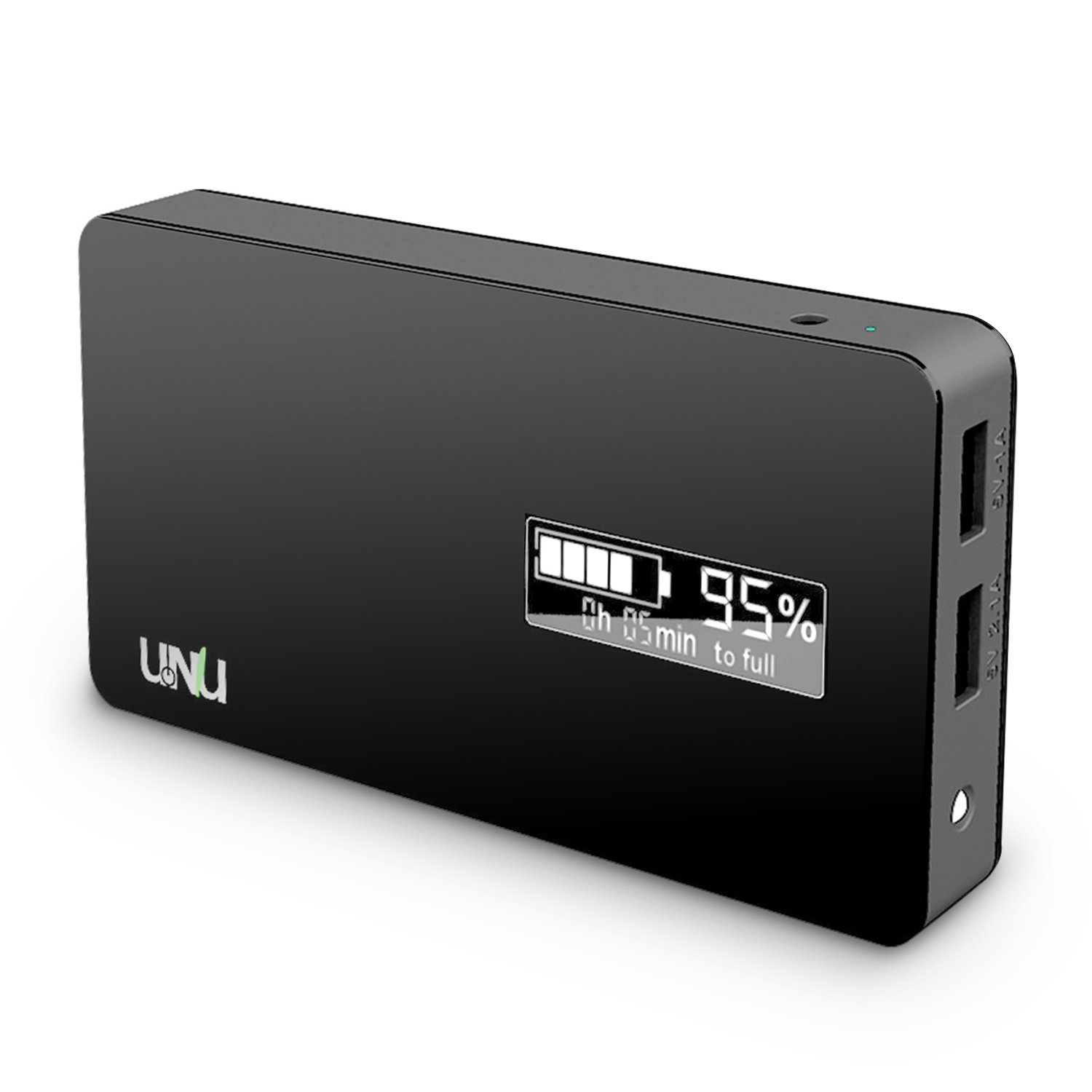 UNU Ultrapak Tour 10000mAH Portable Charger (Black) - 2 USB Port External Battery Pack 8X Fast Charging Power Bank for iPhone 6, iPhone 6 Plus, 5S 4S, Samsung Galaxy S6, S5 and other Android Phone