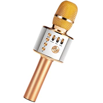 Wireless Bluetooth Karaoke Microphone for Kids Traely 3-in-1 Rechargeable  Handheld Portable Karaoke Machine Christmas Birthday Gifts 3 4 5 6 Year Old