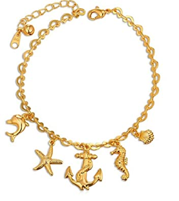 Gold plated pendant Hypocampe .