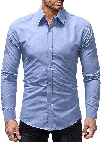 Camisa Casual Manga Larga para Hombre: Amazon.es: Ropa y ...