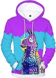 Simmia Fashion Sweats à Capuche,Pull à Manches Longues Hoodie,Sweatshirt,3D Impression numérique Violet 驴 Pull à Capuche Couple Veste de Baseball