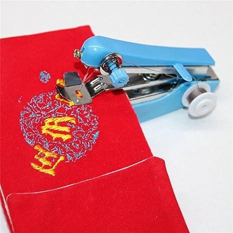 Inicio Uso básico del viaje Mini portátil Bricolaje Costura inalámbrica Máquinas de coser a mano Telas