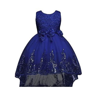 Mädchen Prinzessin Kleid-Kleider mit Bowknot Gürtel für Brautjungfer ...