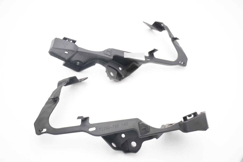 topnicecar 1Pair Front Bumper Headlight Mount Brackets 71190T5RA00 71140T5RA00 Generic fit Honda Fit 2015-2018